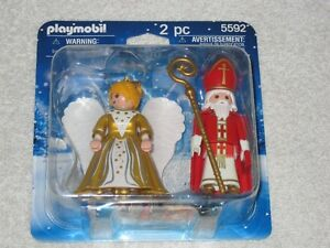 PLAYMOBIL #5592 - ST. NIKOLAS & CHRISTMAS ANGEL - BRANDNEW!