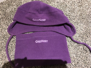Oshkosh hat and neck warmer