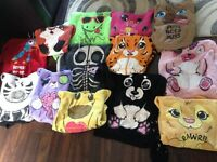 11 ANIMAL HOOODIES VARIOUS SIZES