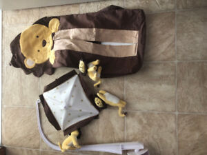 For Sale! Lion mobile kit with music and a diaper holder