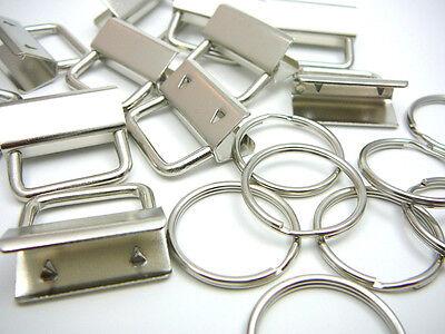 33 Stk. Schlüsselband Rohlinge mit Schlüsselringen 25mm