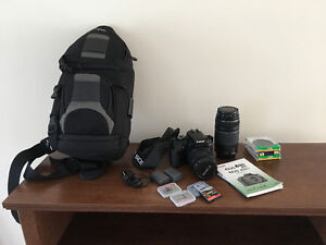 Canon Rebel XTi 400D with 2 lenses
