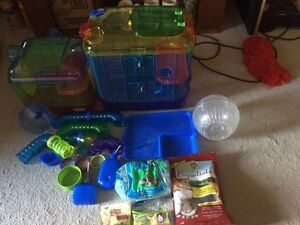 Complete Deluxe Hamster Set Up Like New