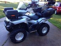 Trade 2006 750 brute force 4 wheeler for running harley