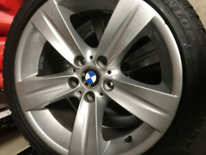 "BMW RIMS AND TIRES 18"" staggered  WINTER SET"