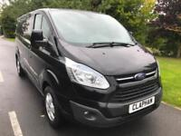 2015 15 FORD TRANSIT CUSTOM LIMITED 2.2TDCI 125PS L2 H1 BLACK ANY UK DELIVERY