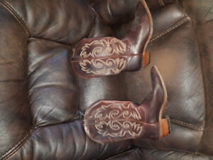 Leather Cowboy boots size 9