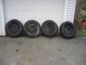 215/70/16 Studded Winter Tire And Rims Great Shape