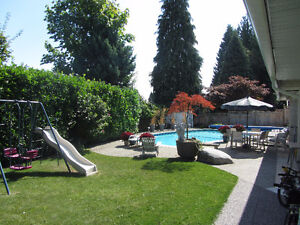 2 Bedroom Furnished Suite with pool in Coquitlam