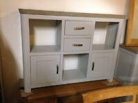 Grey side board to unit bookcase hall table