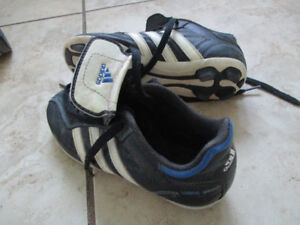 size 1 adidas cleats