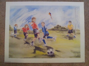 "Steven Houston Lithograph ""Soccer Daze"""