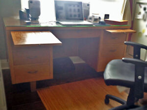 Vintage Desk w/ Glass Top -- $50 or Offers