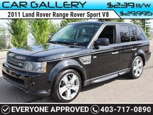 2011 Land Rover Range Rover Sport V8 SUPERCHARGED w/Sunroof, Lea