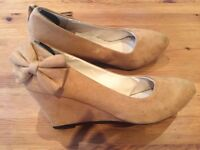FREE suede wedged heels size 6