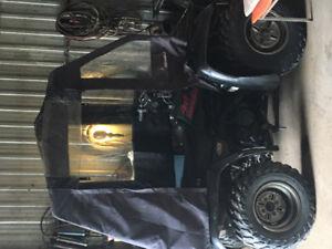 4 roue yamaha vert 4x4 vien avec pelle et cabine