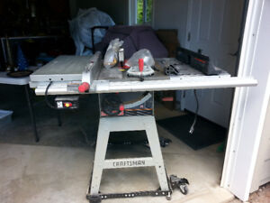 Professional Table Saw with Router table