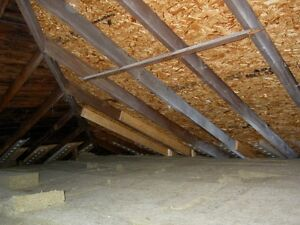 Framer needed to pump up inside of new roof