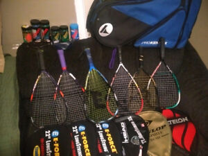 Complete set of Racquetball equipment