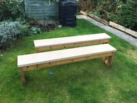 Benches - plywood and pine