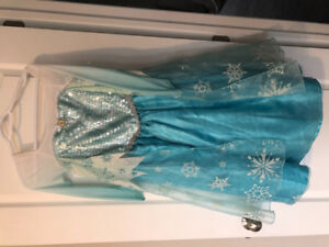 Halloween Costume quality Elsa dress from frozen. Size 8 -12