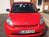 2007 DAIHATSU SIRION 1.0s 5 DOOR HATCHBACK £30 A YEAR TAX