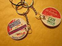 Key chains 4  Milk Bottle Cap  chains