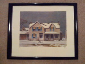"""A.J. Casson """"First Snow"""" Lithograph - Appraised at $3000 London Ontario image 5"""