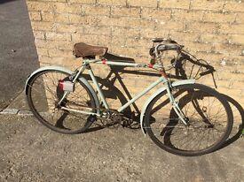 Vintage 1954 New Hudson Gents bike.
