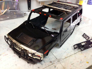 1/10 Hummer H2 rc scale body