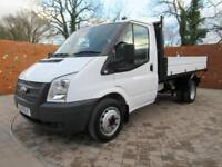 FORD TRANSIT 350 ONE WAY TIPPER MWB 125 BHP ONE STOP