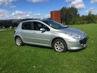 07 peugeot 307 1.4 S*ONLY 67K*CRUISE*FULL MOT!FSH!FREE WARRANTY!not,fiesta,astra,focus,clio
