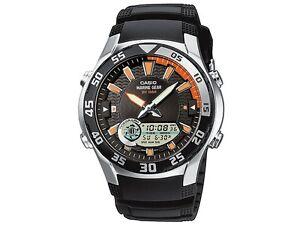 Casio Men's Analogue & Digital Marine Gear Resin Strap Watch