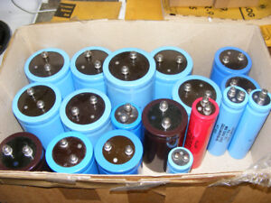LOT OF LARGE CAN ELECTROLYTIC CAPACITORS