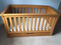 Mamas and Papas Ocean Golden Oak Nursery Furniture - 3 items