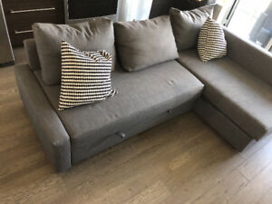 ikea L shape couch (sofa bed)