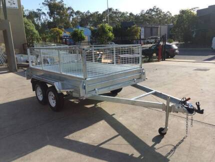 Electric Brake HotDippedGal Tandem 10x6 CageTrailer Fully Welded Browns Plains Logan Area Preview