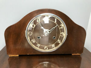 Antique working Swiss art deco clock