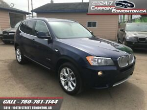 2014 BMW X3 28xi AWD...ONE YEAR BMW WARRANTY  IMMACULATE CONDITI