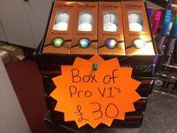 Box of Titleist 2016 ProV1 Golf balls