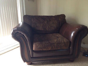 Chair leather and fabric Belleville Belleville Area image 1