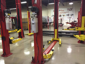 2 Post Low Ceiling Height Lift - 9,000 lb Capacity