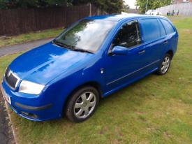Diesel skoda fabia car derived van, remapped, and long mot