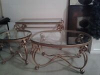 solid heavy sofa table and end table for sale