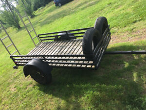 4x8 utility trailer with aluminum ramps