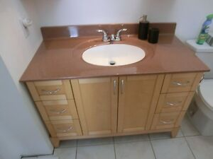 bathroom cabinet upper lower with sink and fawcett