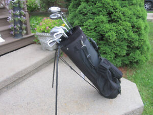 Men's Right Hand 13-pc Golf Clubs Set (Verdict) & Golf Stand Bag