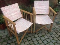 Two foldable Habitat garden chairs