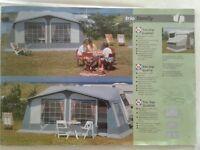 Trio Family full caravan acrylic Awning (925 cms)