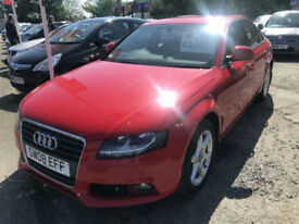 08 REG Audi A4 1.8T FSI ( 160PS ) SE IN RED
